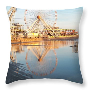 Ferris Wheel Jersey Shore 2 Throw Pillow