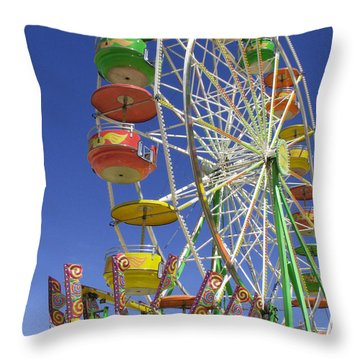 Throw Pillow featuring the photograph Ferris Wheel by Marcia Socolik