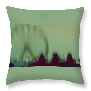Ferris Wheel Reflection Throw Pillow