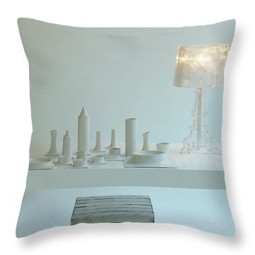 Ferruccio Laviani's Bourgie Lamp From Kartell Throw Pillow