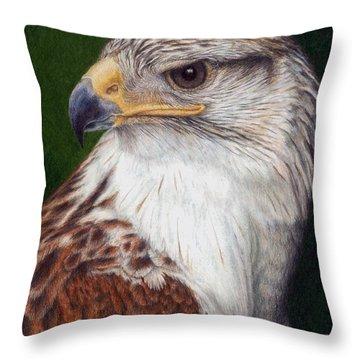 Throw Pillow featuring the painting Ferruginous Hawk by Pat Erickson