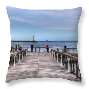 Ferry I See You Throw Pillow