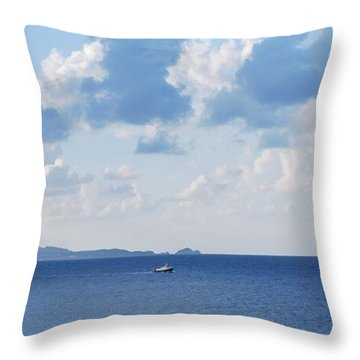 Ferry On Time Throw Pillow by George Katechis