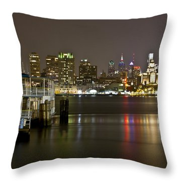 Ferry To The City Of Brotherly Love Throw Pillow