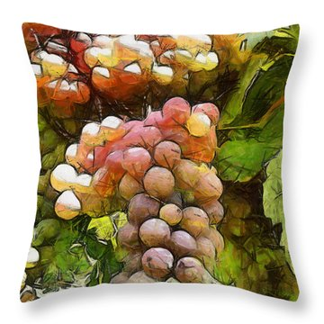 Throw Pillow featuring the painting Fertility by Georgi Dimitrov