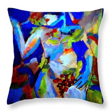 Fertility Throw Pillow by Helena Wierzbicki