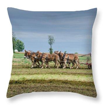 Fertilizing Throw Pillow by Guy Whiteley