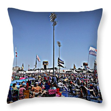 Fest Crowd Throw Pillow