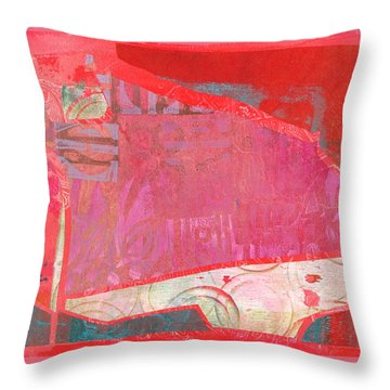 Throw Pillow featuring the mixed media Festival by Catherine Redmayne