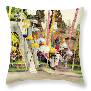 Festival Hindu Ceremony Throw Pillow