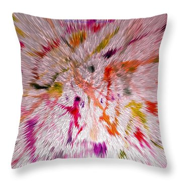 Festival Of Colours Throw Pillow by Sonali Gangane