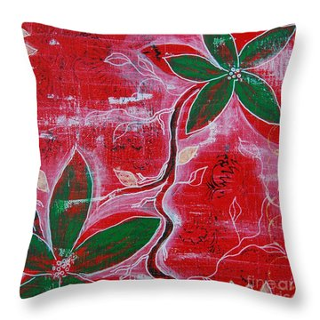Festive Garden 1 Throw Pillow