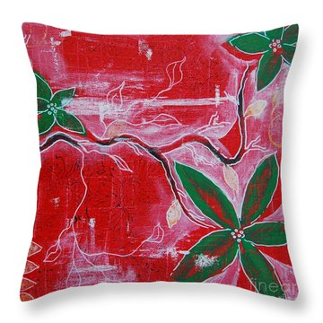Festive Garden 2 Throw Pillow