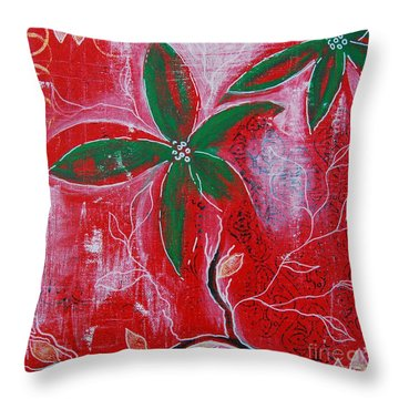 Festive Garden 3 Throw Pillow