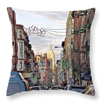 Festive Nyc Throw Pillow