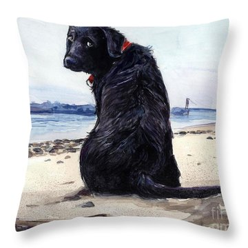 Fetching Throw Pillow