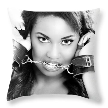 Fetish Throw Pillow by Lawrence Burry