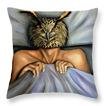 Fetish Nightmare 2 Throw Pillow by Leah Saulnier The Painting Maniac
