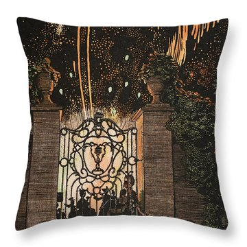 Feu D Artifice Throw Pillow by Konstantin Andreevic Somov