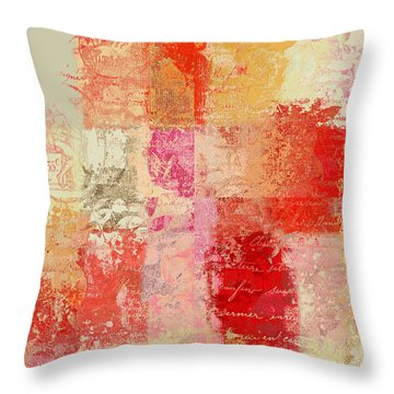 Feuilleton De Nature - S01t02a Throw Pillow by Variance Collections