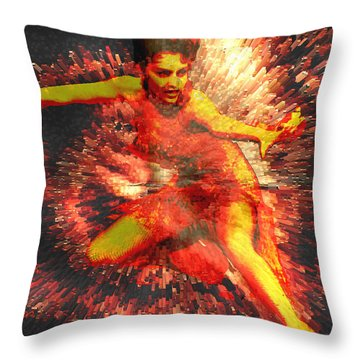 Fever Throw Pillow by Seth Weaver