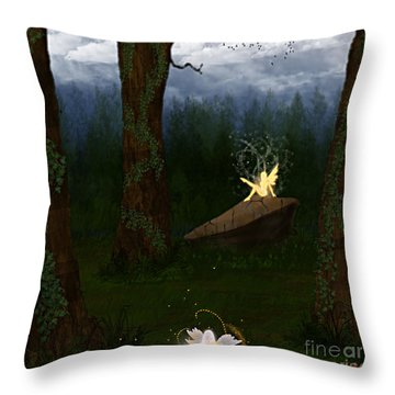 Fey Forest Throw Pillow by Thomas OGrady