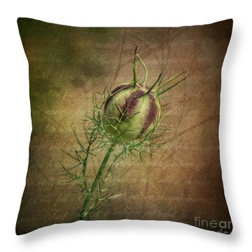 Fey Poppy Magic Throw Pillow