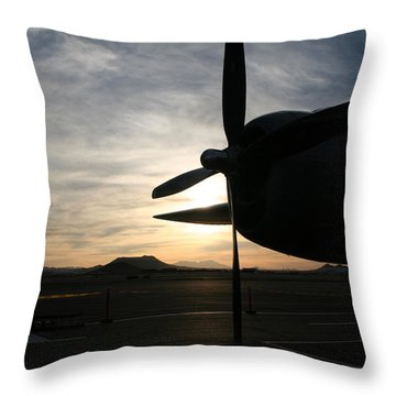 Throw Pillow featuring the photograph Fi-fi Power by David S Reynolds