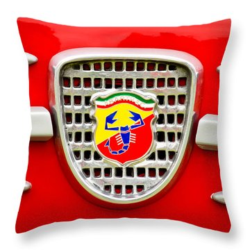 Fiat Emblem Throw Pillow by Jill Reger