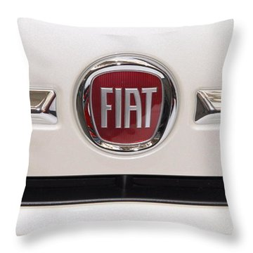 Fiat Logo Throw Pillow by Valentino Visentini