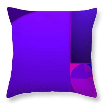 Fibonacci Blue Throw Pillow