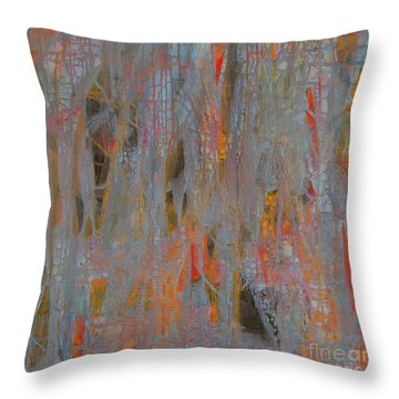 Throw Pillow featuring the painting Fibres Of My Being by Mini Arora