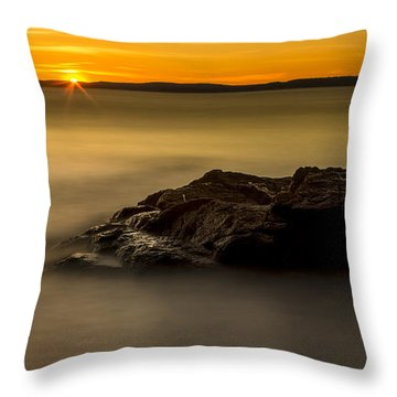 Fidalgo Island Sunset Throw Pillow