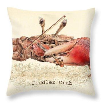 Fiddler Crab Throw Pillow