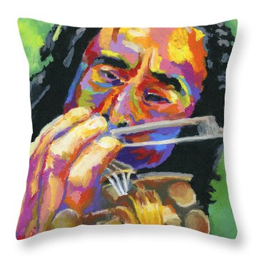Fiddling For Free Throw Pillow by Stephen Anderson