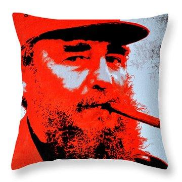 Fidel Castro Throw Pillow