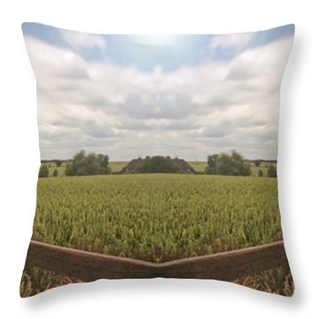 Field And Sky, South England Throw Pillow by Vast Photography