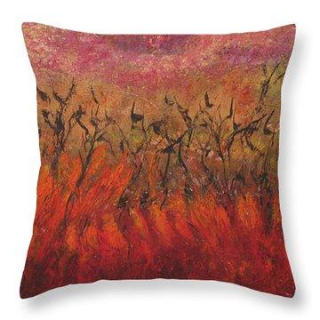 Field Dance Throw Pillow