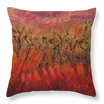 Field Dance Throw Pillow