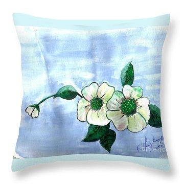 Field Flowers Throw Pillow by Francine Heykoop