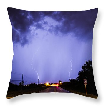 Throw Pillow featuring the photograph Field Goal by Tyson Kinnison