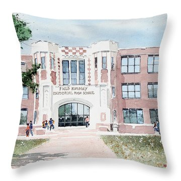 Field Kindley Memorial High School Throw Pillow
