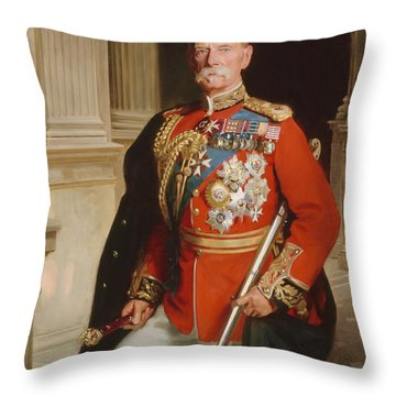 Field Marshal Lord Roberts Of Kandahar Throw Pillow by Frank Markham Skipworth