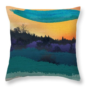 Field Of Colors And Shades Throw Pillow by Bedros Awak