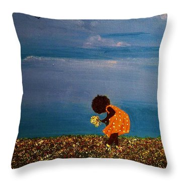 Field Of Colors Throw Pillow by Edith Peterson-Watson