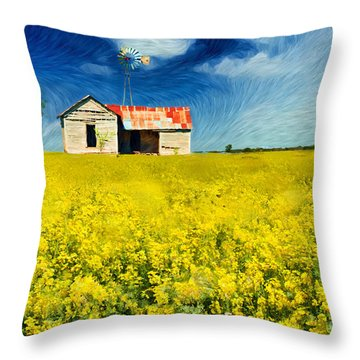 Field Of Dreams Throw Pillow by Betty LaRue