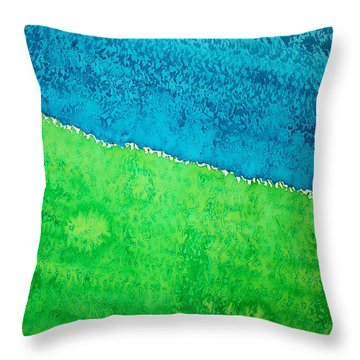 Field Of Dreams Original Painting Throw Pillow by Sol Luckman