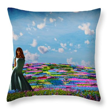 Field Of Flowers... Throw Pillow