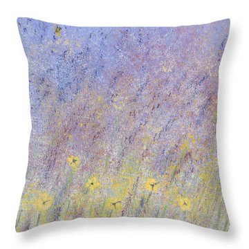 Field Of Flowers Throw Pillow by Tim Townsend