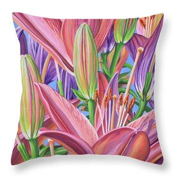 Field Of Lilies Throw Pillow